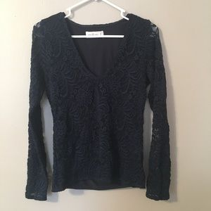 Abercombie & Fitch lace long sleeved tee
